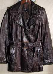 Замечательная кожаная лаковая куртка, M/L 2