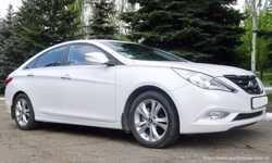 166 Hyundai Sonata белая NEW прокат авто 3