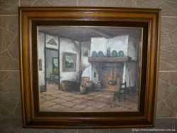 Картина мальована Біля каміна (4209)