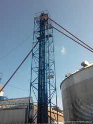 Зерновий коплекс для транспортування, протравлювання і фасування.