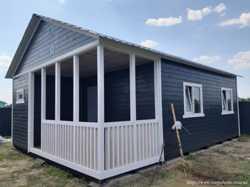 Дачный домик 6м*8м со встроенной террасой