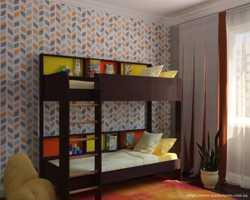 Двоярусне дитяче ліжко Альфа  1