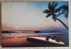 """Картина Фотокартина """"Закат на тропическом пляже"""""""
