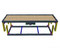 Вибростол для производства плитки тротуарной, заборов, памятников и др. 1