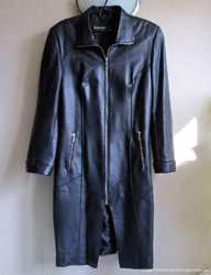 Кожаное женское пальто из натуральной кожи, M/L