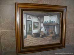 Картина мальована Біля каміна (4209) 2