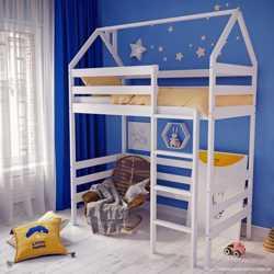 Кровать-будиночок двоповерхова з сосни  4500 грн  2