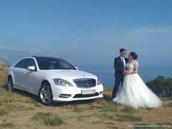 МЕРСЕДЕС W221 S-класс Long AMG белого цвета на свадьбу! 2