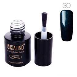 Гель-лак для ногтей маникюра 7мл Rosalind, шеллак, 30 сапфировый