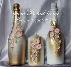 Шампанское на свадьбу, свадебные бокалы 1