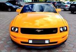159 Кабриолет Ford Mustang GT оранжевый аренда 2