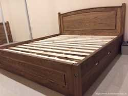 Кровать деревянная с шухлядами 2