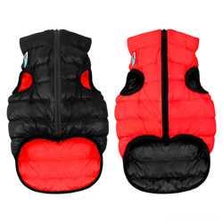 Двусторонняя курточка для собак Airy Vest cалатово-голубая M50, красно