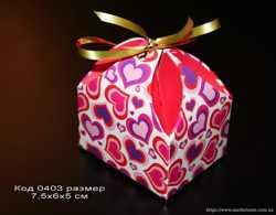 Подарочные коробочки для изделий ручной работы, бонбоньерки
