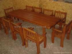 Столы, стулья, скамейки в кафе, бары, сауны 2
