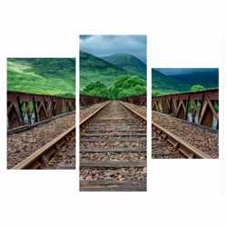 Модульная картина Железная дорога